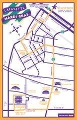 Lafayette Mardi Gras parades take the same route for the most part. The children's parade starts downtown, and Krewe de Canailles stays downtown, while the rest of the parades pass Evangeline Thruway and finish at Cajundome.