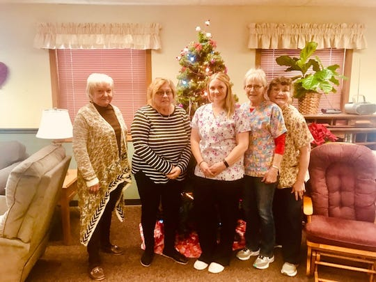 Some of Rainbow House workers, from left, are Mary Gospodarek, Marcia Christiansen, Sara Schuh, Mary Lou Bradley and Susan Kosch.