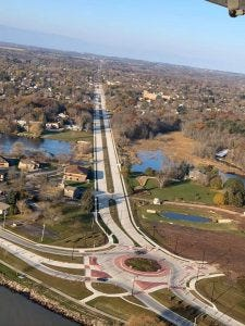 Completed first stretch of Waldo Boulevard reconstruction in Manitowoc.