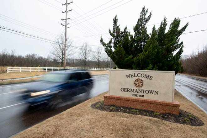 Motorists move along Winchester Road near Business Drive on Monday, Feb. 10, 2020, in Germantown.