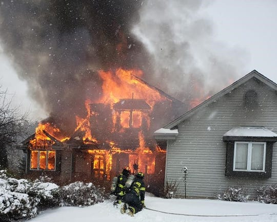 Cedarburg firefighters respond to a fire in the 2300 block of Spring Hill Drive at 1:24 p.m. Sunday, Feb. 9.