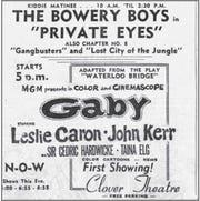 A Kiddie Matinee advertisement.