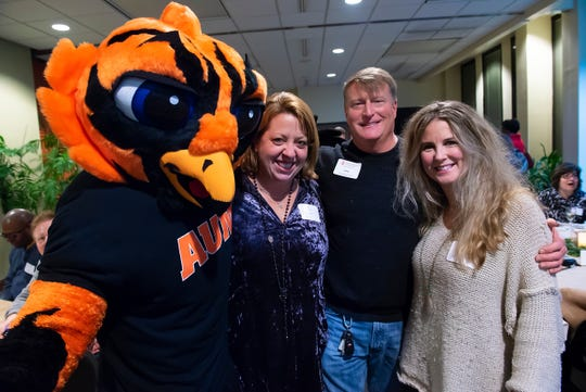 AUM mascot Curtiss the Warhawk helps AUM alumni and fans celebrate homecoming week. More than 13,000 AUM alumni live in Montgomery, Autauga and Elmore counties, said Valerie Rankin, AUM's alumni program manager.