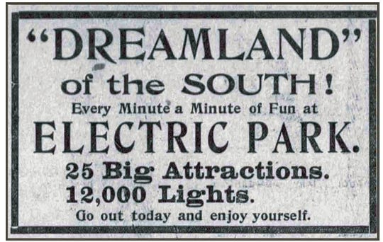 Advertisement from April 23, 1905.