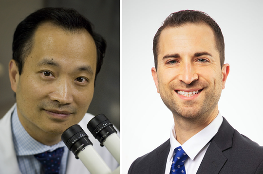 Dr. Ming Wang (left) and Dr. Joshua Frenkel