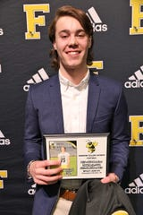 Fairview Senior Wesley Jean - #10, WR/DB - received awards for MVP-Wide Receiver, and TSSAA Region 6AAA All-Academic Team - 2019 at the Annual Fairview High Football Awards Banquet held on Jan. 10, 2020.