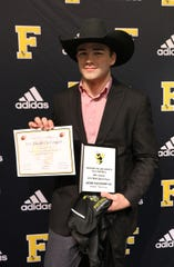Fairview Sophomore Jacob Clevenger, #20 Running/Line Back, had 49 tackles and seven tackles for loss in the 2019 season.  Clevenger was selected as Fairview High's Defense MVP and 2019 TSSAA 6AAA All Region.   at the Annual Fairview High Football Awards Banquet held on Jan. 10, 2020.