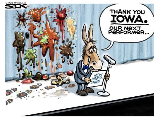 Iowa Democrats' caucus.