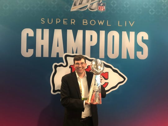 Mike Frazier is a statistical analyst  with the Super Bowl Champion Kansas City Chiefs. He graduated from Granville High School in 1999.