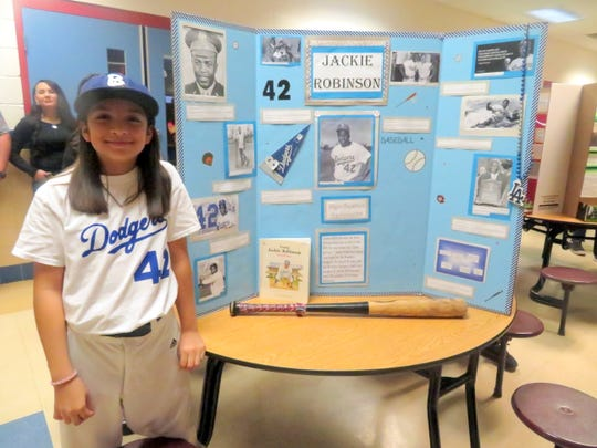 A tribute to Jackie Robinson at Bataan Elementary School.
