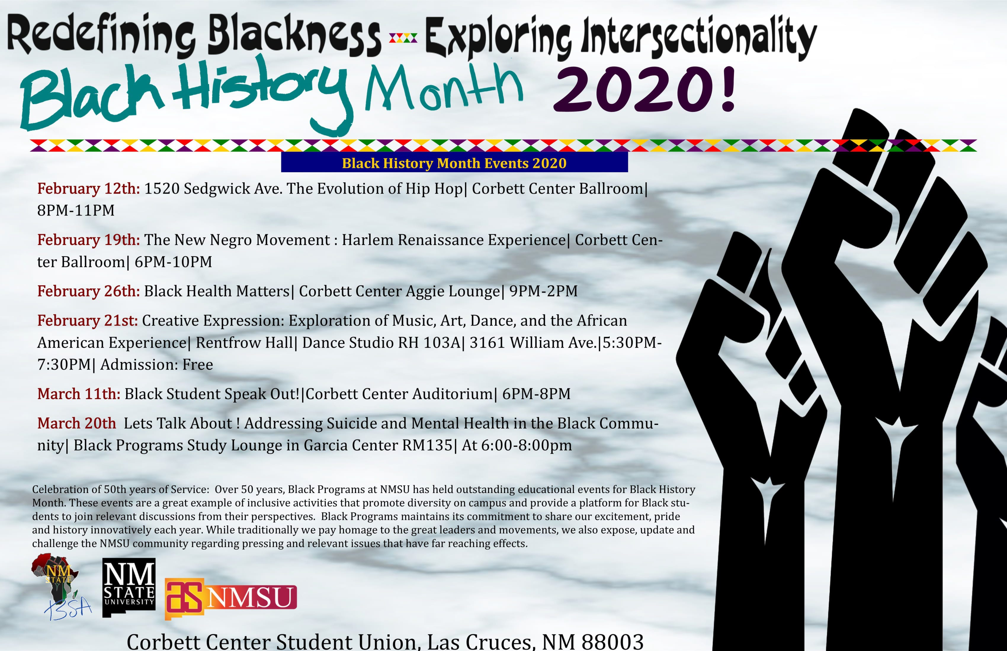 New Mexico State University Notes Black History Month Through March