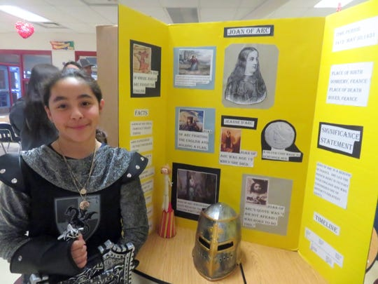 Joan of Arc was on hand for History Night at Bataan Elementary School.