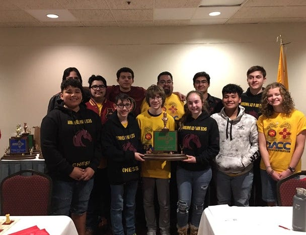 The Arrowhead chess team from Arrowhead Park Early College High School, traveled to Albuquerque for the State Championship and placed third.