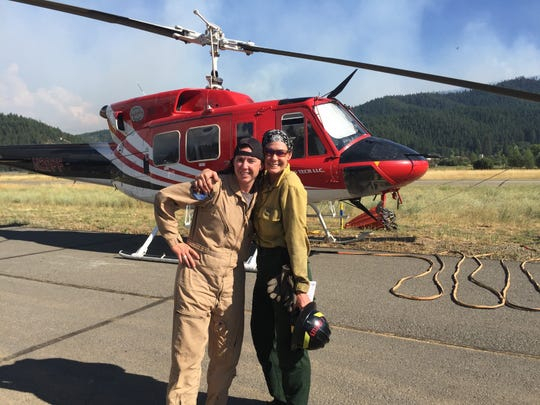 Jennifer and Lisa Bartley share a love of firefighting, one from the air and the other on-ground.