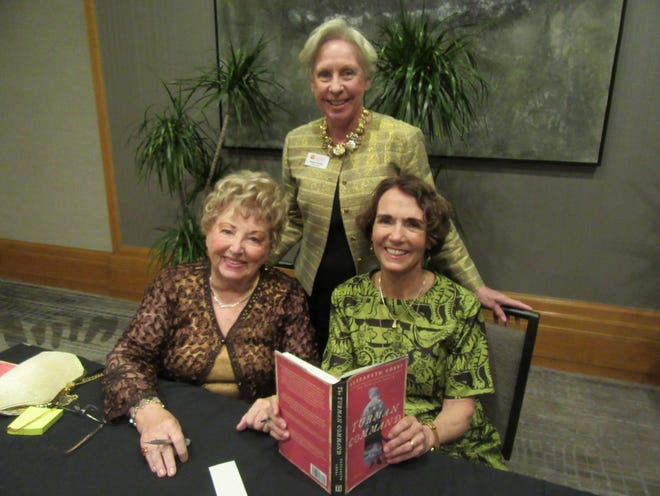 Laura Lee Marcarian, Marge Dodge and author Elizabeth Cobbs were in attendance at the Friends of the College of the Desert Library 50th anniversary author luncheon on Saturday, Feb. 1, 2020.