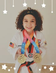 He did it again. Lebanon resident Joshua Aguirre added two more medals to his collection of Taekwondo honors over the weekend after he captured a pair of gold medals at the Mexico Open. Aguirre, 7, became the world's youngest 2nd degree black belt in Taekwondo a few months back. Prior to his success at Mexico, Aguirre won a gold and a silver medal in the Toronto Open. Aguirre is the son of Jorge and Milly Aguirre of Lebanon. He hopes to represent the U.S. at the 2028 Olympics.