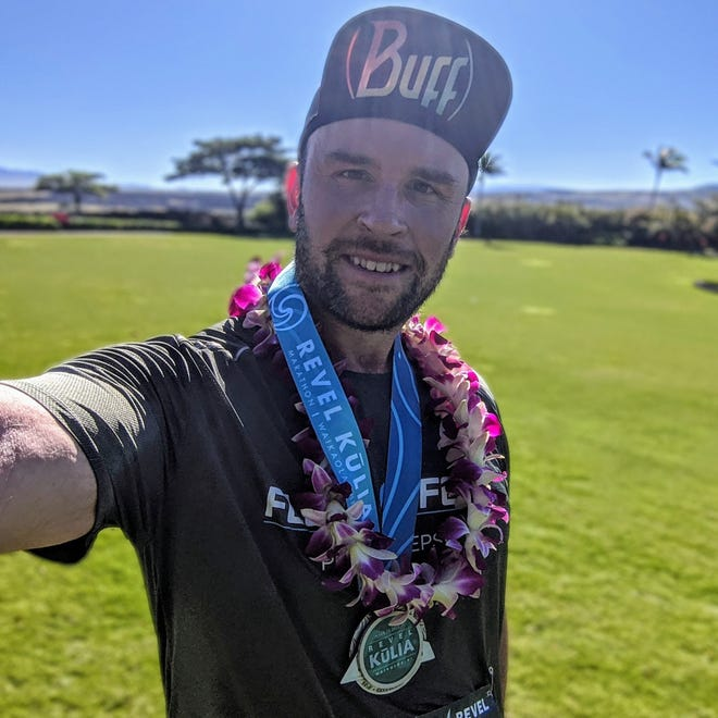 45-year old Wappingers Resident Christopher Regan, as part of his race program, ran in Hawaii.