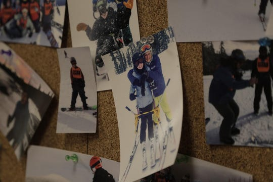"""""""Best Day Ever"""" is a popular saying at Oregon Adaptive Sports, and the wall of photos suggest this is indeed true."""