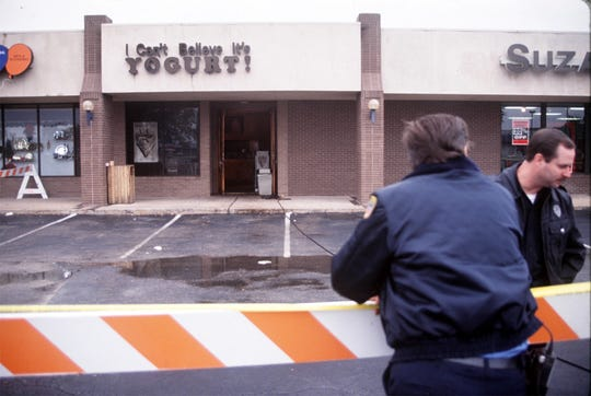 Crime scene at the yogurt shop