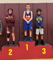 Delmar Middle School wrestler Trey Twilley won the school's first conference championship since 2009 on Saturday, Feb. 1, 2020.