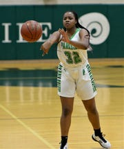 Parkside's Jacqueline Wright makes a pass on Monday, Feb. 10, 2020.