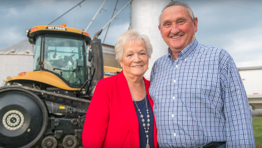 Pat and Temple Rhodes began their family farm operation in 1959 on rented ground in Easton.