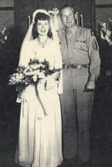 Bettie Hefti and Bob Rosendahl were wed on Aug. 15, 1946. It was one year after Bob had been freed from a prisoner-of-war camp.
