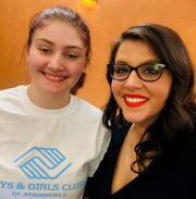 Alissa Schilling, selected Youth of the Year by the Boys & Girls Clubs of Springfield, with Brandy Harris, the CEO.