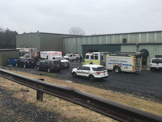 Numerous law enforcement and rescue agencies responded Monday to Liphart Steel in Verona.