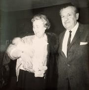 Floreine and Richard Colbert are pictured with grandson Rick Colbert circa 1957.