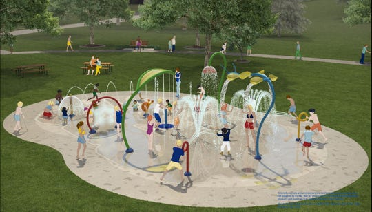 A rendering of the design for the Watab Park splash pad submitted to the City of Sartell Jan. 27, 2020.