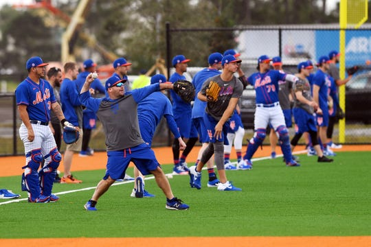 The pitchers and catchers for the New York Mets arrived at Clover Park on Monday, Feb. 10, 2020, for the first day of spring training. The stadium is still under renovations as the opening game for spring training nears.