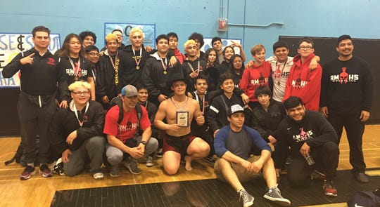 Rio Mesa had five boys champions and one girls champion at the Pacific View League Wrestling Championships on Saturday.