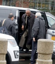 Willie Trotman of the Spring Valley NAACP arrives at federal court in White Plains Feb. 10, 2020. The NAACP is challenging the Orthodox Jewish dominance of the East Ramapo school board. The case was schedule to go before a federal judge Monday.