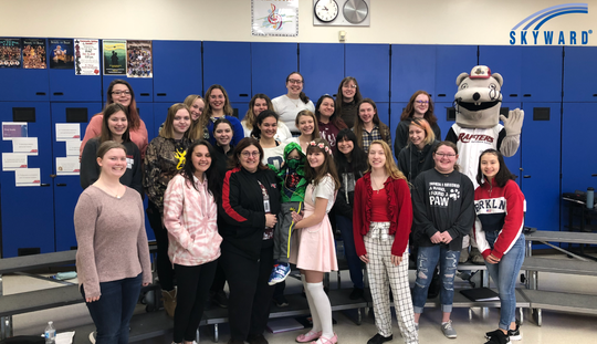 Julie Stoffel was awarded the 2020 Skyward Central Wisconsin Teacher of the Year Feb. 4 at Lincoln High School in Wisconsin Rapids