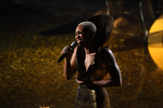 """Cynthia Erivo played Harriet Tubman in """"Harriet,"""" and also wrote and performed its original song nominee, """"Stand Up."""""""