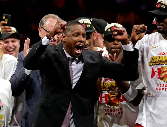 Raptors president Masai Ujiri discussed a recent video that shows a deputy as the aggressor during an incident with Ujiri last year.