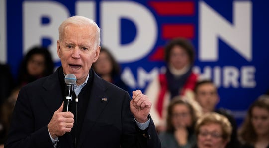 "Former Vice President Joe Biden expects ""I'll probably take a hit"" in New Hampshire."