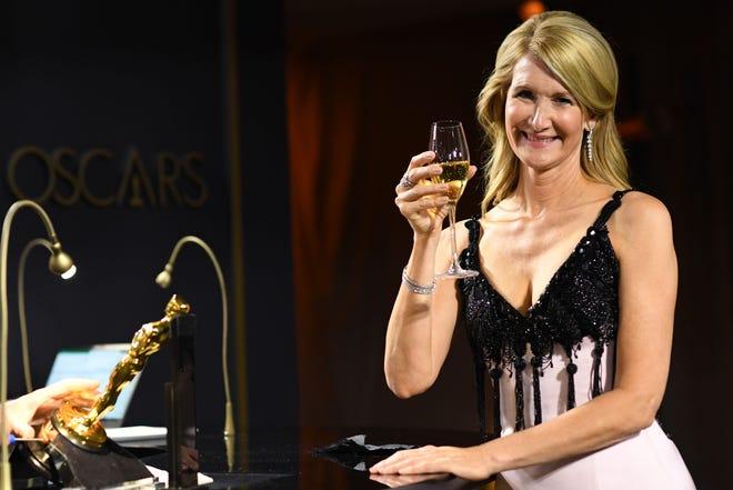 Laura Dern savors being an Academy Award winner, as her Oscar is engraved.