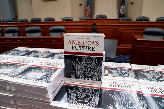 President Donald Trump's budget request for fiscal year 2021 arrives on Capitol Hill on Feb. 10, 2020.