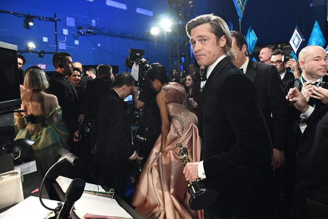 Brad Pitt backstage during the 92nd Academy Awards at Dolby Theatre.