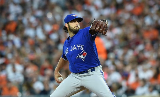 Mike Bolsinger pitched in 11 games for the Toronto Blue Jays in 2017, he last coming against the Houston Astros on Aug. 4.