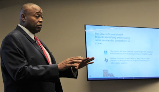 Mayor Anthony Williams walked Monday evening's audience at the south branch of the Abilene Public Library through 2019 accomplishments and what is ahead for the city of Abilene. Water security remains an ongoing effort to ensure Abilene has no water issues through this century.