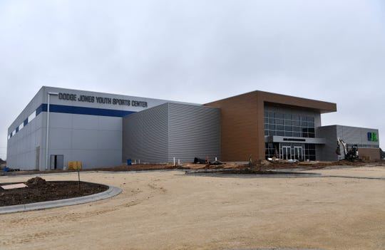 The exterior of the Dodge Jones Youth Sports Center at Nelson Park.