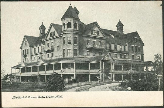 A 1905 postcard showing the Haskell Home orphanage on Hubbard Street.