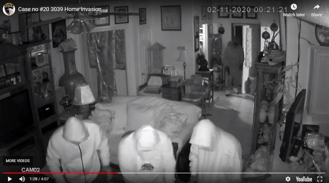 Aransas Pass police are seeking the identities of five men seen breaking into a home on Tuesday, Feb. 11, 2020. The men tied up residents inside the Aransas Pass home as they searched for money, police said.