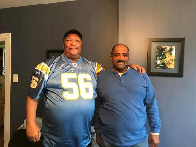 Bill Lowrey (left) and Richard Williams are two of the men who've benefited from IHOC's program. Lowrey hopes to become a counselor to help others who've struggled with homelessness, while Williams is four months into the program.