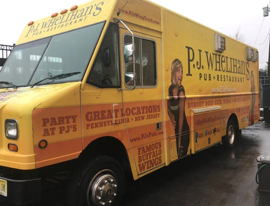 The P.J. Whelihan's chain includes this food truck, parked behind a Maple Shade restaurant Tuesday.