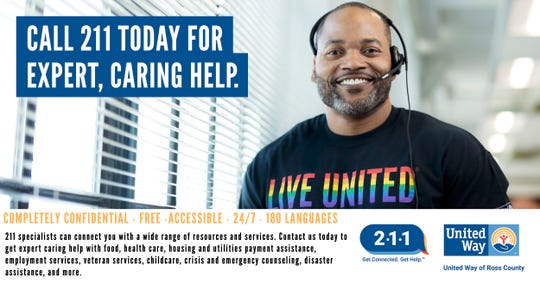 2-1-1 can be accessed by phone or computer. A toll-free call to 2-1-1 connects anyone in Ross County to a community resource specialist who can put the caller in touch with local organizations that provide critical services that can improve—and save—lives.