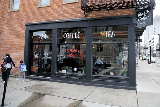 Black Coffee, pictured, Tuesday, Feb. 11, 2020, on Elm Street in Cincinnati.
